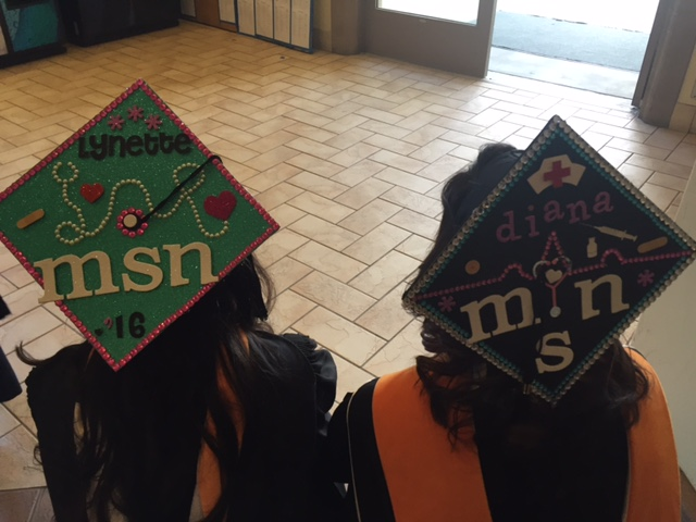 Lynette m and Diana P grad caps